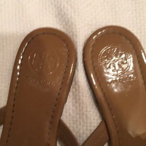 Tory Burch Shoes - TORY BURCH PATENT LEATHER MILLER SANDALS